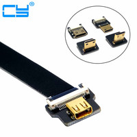 FPV Micro HDMI Female to Mini HDMI FPC Flexible Flat Cable fpv Flat Cable for GOPRO Multicopter Aerial Photography