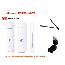 Unlock HUAWEI E3372 E3372h-607 150Mbps 4G LTE USB Modem Dual Port Support All Band ( plus antenna &360 degree rotation )