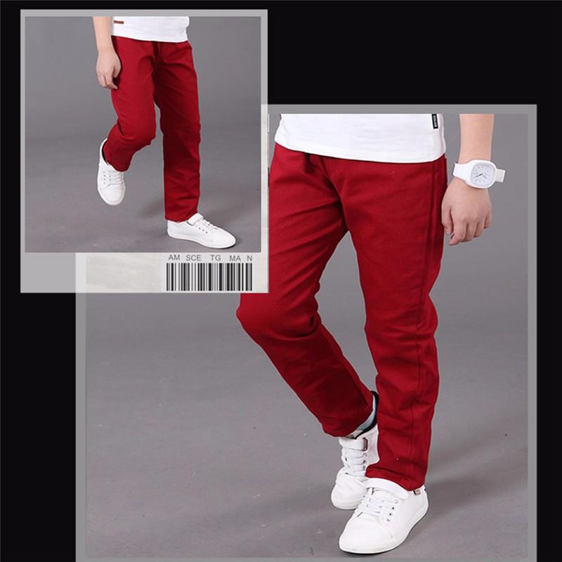 HTB1h4wWOVXXXXalaXXXq6xXFXXXS - boys pants kids jeans 2018 casual Spring Solid Cotton Mid Elastic Waist Pants for Boy jeans kids Clothing Children Trousers p023