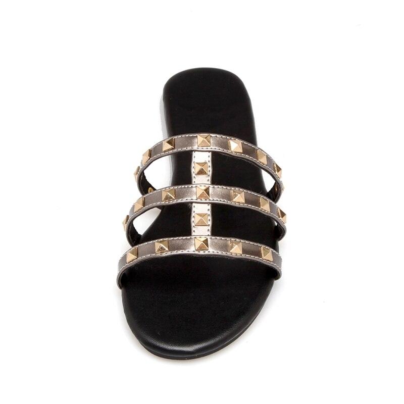 SARAIRIS Summer Plus Size 34-43 zapatillas con remaches punk Comfort - Zapatos de mujer - foto 3