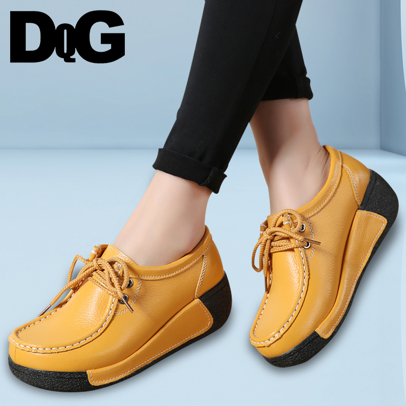 DQG 2018 Winter Women Shoes Casual Flat Platform Shoes Slip-On Solid New Style Zapatos Mujer Flats Chaussures Femme все цены