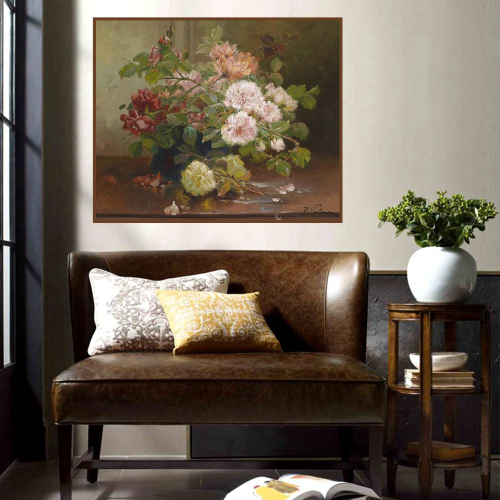 Color Chrysanthemum Flowers Oil Painting Print on Canvas Wall Art Poster Cuadros Decoration for Home Christmas Gift Dropshipping