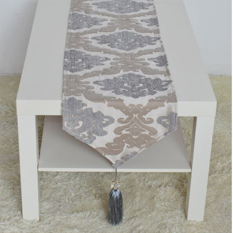 Online buy wholesale grey table runner from china grey for Chemin de table moderne
