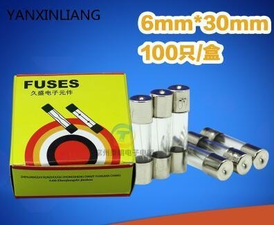 sourcingmap 250V 2A Rapide Action Rapide Tube En Verre Fusibles 6mm x 30mm 50 Pi/èces