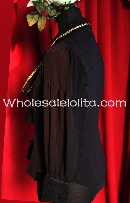 Блузка на заказ белая кружевная блузка с длинными рукавами в готическом Стиле Лолита кружевная рубашка в стиле Лолиты Готическая блузка