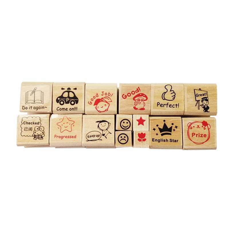4 компл./лот деревянный мультфильм для детского сада медсестры школы учительницы отзывы учители стимулируют резиновый Stam подарок оптом