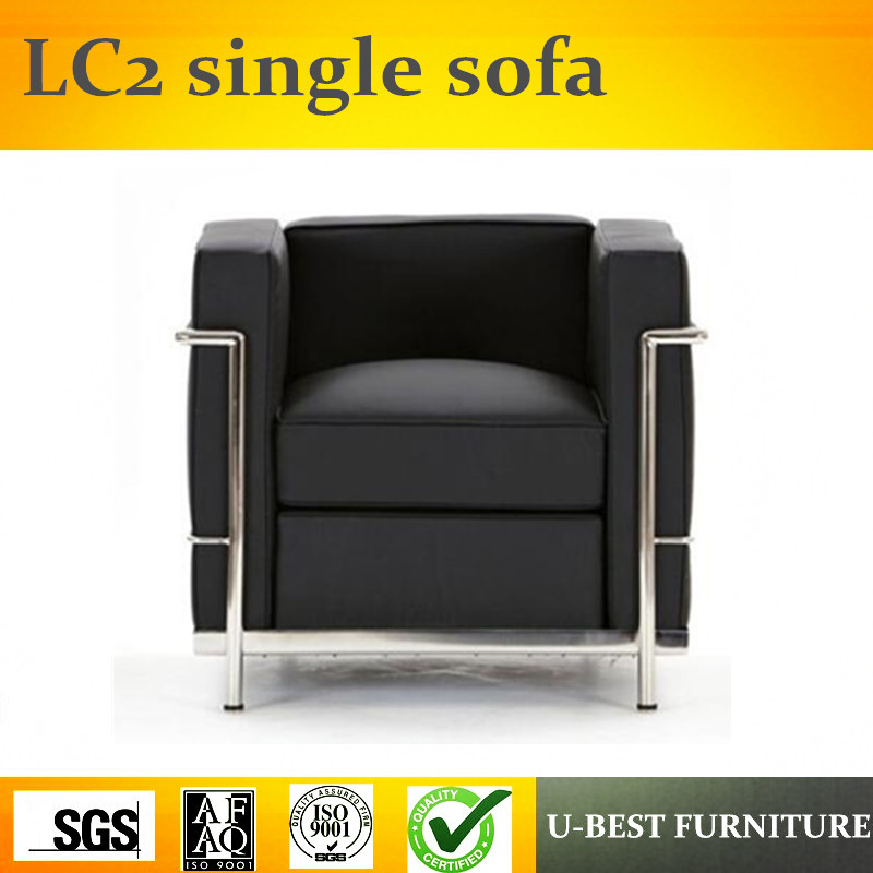 U BEST American Style Antique Real Leather Armchair, LC2 Single Seater Sofa  Chairs In Living Room Sofas From Furniture On Aliexpress.com | Alibaba Group