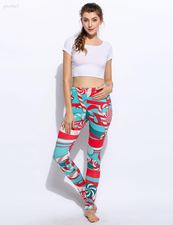 ̀ •́ Moda mujeres largo Pantalones casual slim elástico Navidad ...