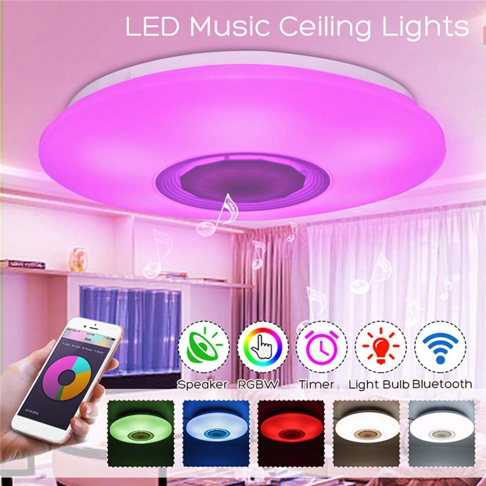 48W 108LED Ceiling Light Dimmable Music Blue tooth Speaker Down Lamp APP Remote And Voice Control Multi-Color AC110-260V48W 108LED Ceiling Light Dimmable Music Blue tooth Speaker Down Lamp APP Remote And Voice Control Multi-Color AC110-260V