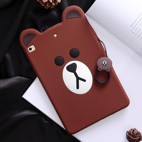 Brown bear 3D black cat and brown bear iPad Mini 1/2/3 smart case