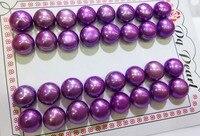 16 pairs água doce da pérola brincos coin beads 10-11mm rosa vermelho azul FPPJ atacado natureza contas solta pérolas para a jóia DIY