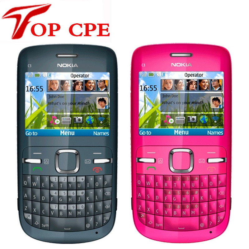 Provided Nokia C3 Original Unlocked Nokia C3/c3-00 Cell Phone Wifi Bar 2mp Blue Gold Pink Color Symbian Version One Year Warranty Clear-Cut Texture Cellphones & Telecommunications