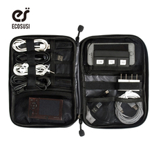 ФОТО ECOSUSI  Accessories Bag Nylon Mens Travel Accessories  Date Line SD Card USB Cable Digital Device Bag Accessories