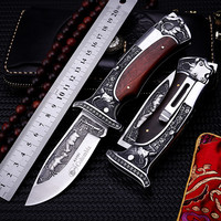 2018 New Free Shipping Outdoor Fixed Tactical Folding Knife Self defense Wilderness Survival Camping Hunting Knives EDC Tools