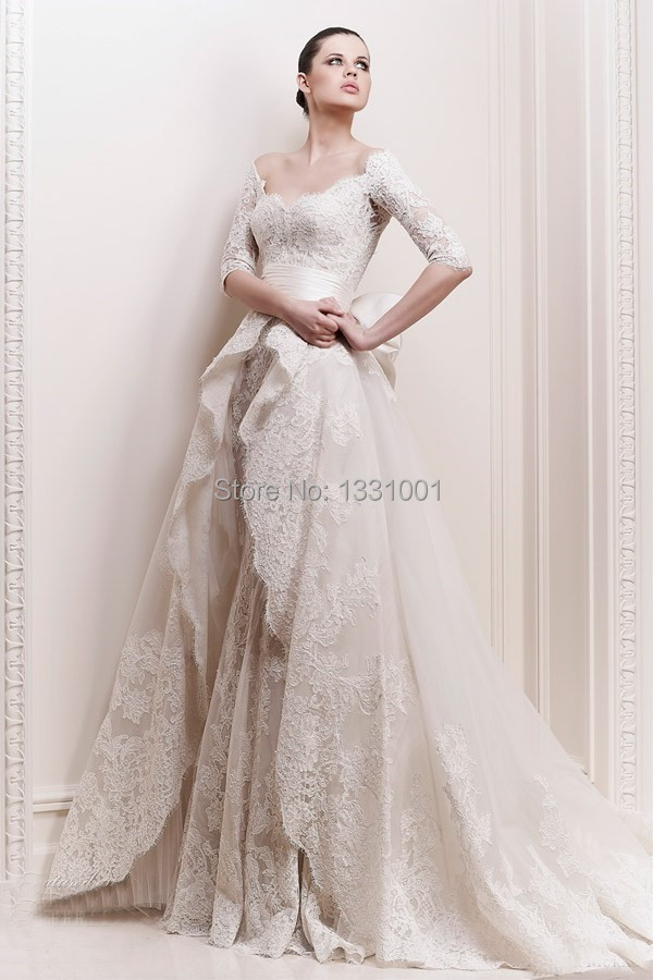 2014 New Arrival Lebanon Designer Wedding Dresses Appliques Spring White Bridal Gowns For Brides Bridal Gown Bridal Gown Designdesigner Bridal Gowns Aliexpress
