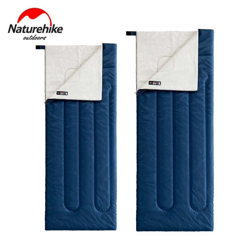 naturehike primavera verao outono secao ultraleve envelope portatil algodao saco de dormir acampamento 190x75 205x85 cm