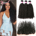 Lace Frontal Closure With Bundles 3pcs Indian Virgin Hair With Frontal Closure Indian Kinky Curly Virgin Hair With Lace Frontal