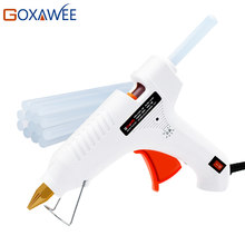 GOXAWEE 20W 80W 105W Hot Melt Electric Heat Glue Gun Brass Nozzle with 10pcs Hot Melt Glue Sticks Craft Repair Home DIY Tools(China)
