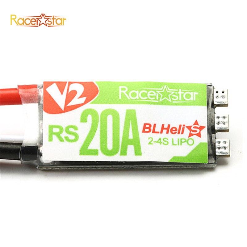 New Arrival Racerstar RS20A V2 New 20A Blheli_S OPTO 2-4S ESC Support Oneshot42 Multishot for FPV Racer