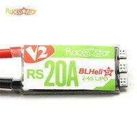 Nouvelle Arrivée Racerstar RS20A V2 Nouveau 20A Blheli_S OPTO 2-4 S ESC Soutien Oneshot42 Rafale pour FPV Racer