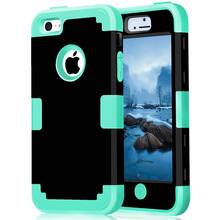 For iPhone 5C Shockproof Protect Case Hybrid Hard Rubber Impact Skin Armor Phone Cases w/Screen Protector Film+Stylus Pen