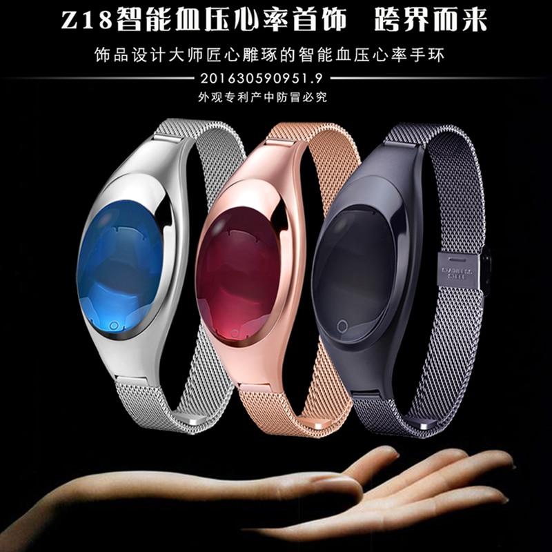 imágenes para Smartch Mujeres Regalo del Día de la banda Z18 Corazón Presión Arterial Pulso de Reloj de pulsera Relojes de Lujo para Las Mujeres para Android IOS