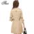 Tlzc nueva doble de pecho fosa de las mujeres abrigos más el tamaño m-4xl 2017 Popular de Invierno Primavera Otoño Negro/de Color Caqui Señora Larga Outwear