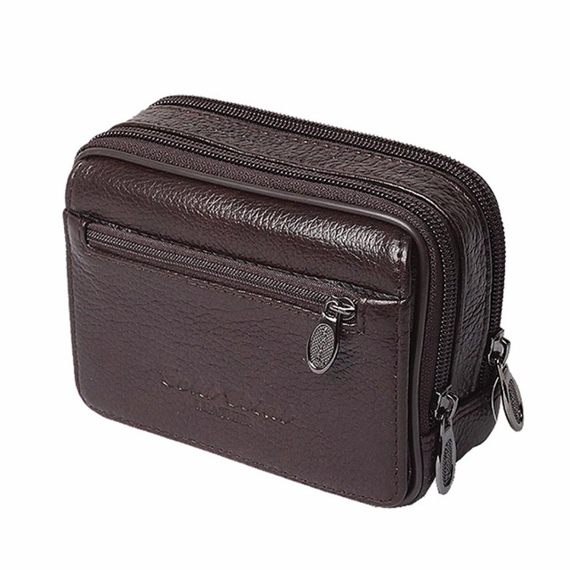 Высокое качество Пояса из натуральной кожи Для мужчин Бизнес талии мешок  первый Слои коровьей поясная сумка 890272c534d