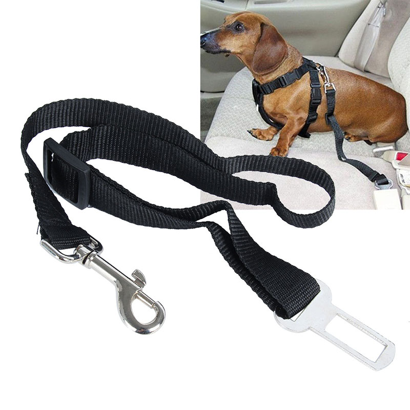 hot adjustable dog pet car safety seat belt harness restraint lead leash travel clip in leashes. Black Bedroom Furniture Sets. Home Design Ideas