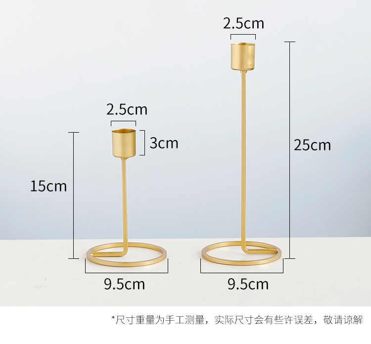גיאומטרי ברזל מתכת פמוט חג המולד חתונה זהב פמוט Tealight פמוט קישוט תאורה מודרני פשטות