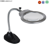 AIBOULLY XK 90 Easy in Europe and America 2X 5X times Desktop Magnifier LED Light Portable Student Desk Lamp Service Sculpture