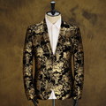 Blazer jaqueta de festa de casamento do baile de outono inverno masculino qualidade padrão decorativo personalidade cantor dancer desempenho estrelas