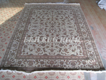 Free shipping 8'X10' 160Line Hand-knotted Wool and Silk Oriental Persian Rug handmade persian carpet
