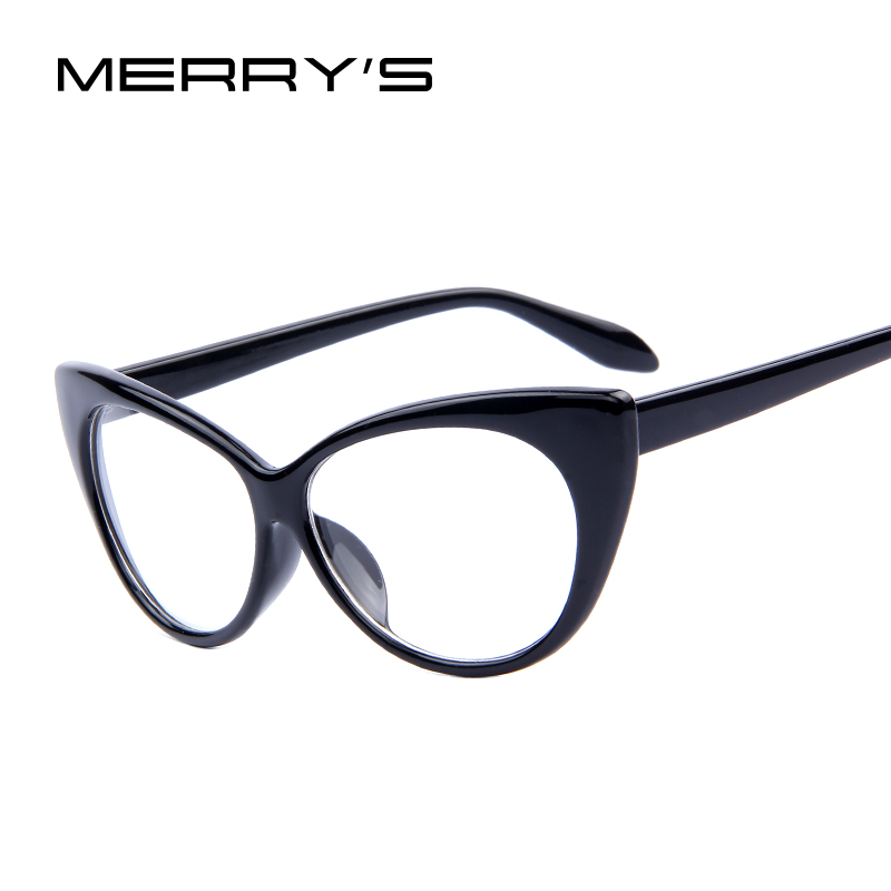 307e1354bf Fashion Brand Women Cat Eye Plain Glasses Women Clear Cat Eye Glasses High  Quality Vintage Glasses For Women