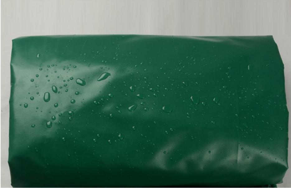 Customize 420g/sqm Multiple Sizes Green Outdoor Waterproof PVC Cover Canvas,rain Tarpaulin, Truck Tarp. Tent Material Cloth