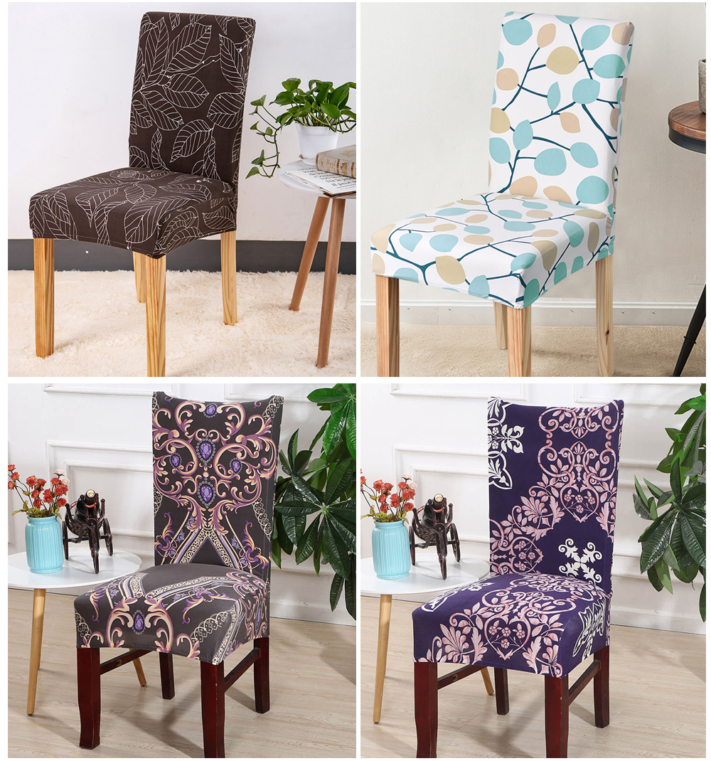 1246PCS Geometry Spandex Chair Cover Dining Washable slipcover for seat Elastic Kitchen Chair Covers Stretch Furniture Covers (9)
