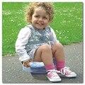 Criança de viagem descartáveis de papelão de papel higiênico Potty 3 pcs saco de fraldas de viagem limpa higiênico potty fralda de Criança presente de natal
