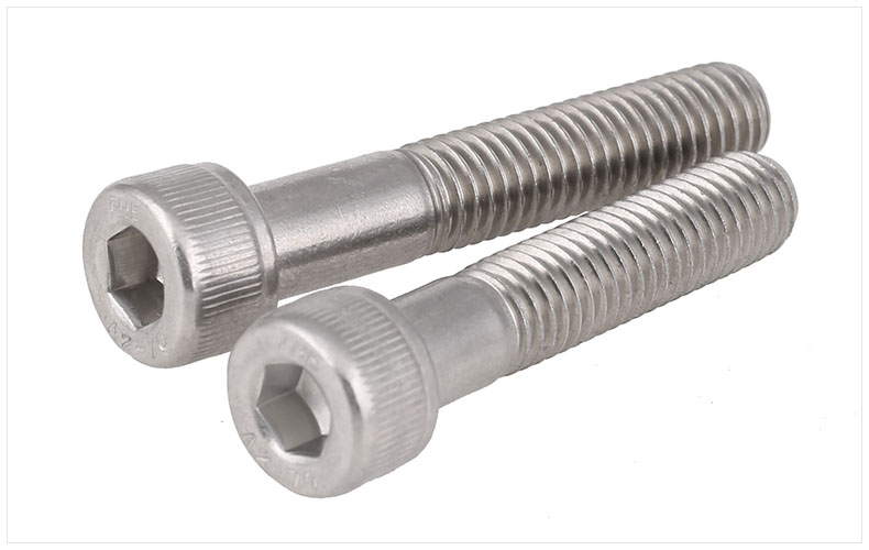 DIN912 304 stainless steel bolts half thread hex socket <font><b>screws</b></font> M4 M5 M6 <font><b>M8</b></font> M10 M12 <font><b>screws</b></font> twill cylindrical head bolts image