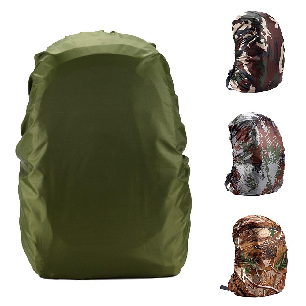 Nylon 35L Waterproof Backpack Bag Dust Rain Cover Camo For Camping Hiking Cycling Luggage Pouch Cover Case Travel Outdoor Tool