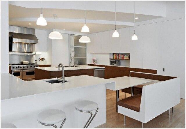 2016 moderno muebles de cocina fabricantes alto brillo lacado blanco ...