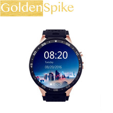 KingWear KW88 Smartwatch Telefone MTK6580 Quad Core 512 MB RAM 4 GB ROM GPS Sensor de Gravidade PK x5 k18 d5 Android 5.1 Tela Amoled 3G