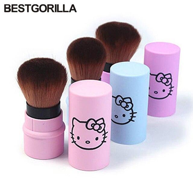 03d0de14b hello kitty Flexible powder brush professional soft Base Foundation Brush  Makeup Brush Pro Contour Kabuki Brush for Makeup