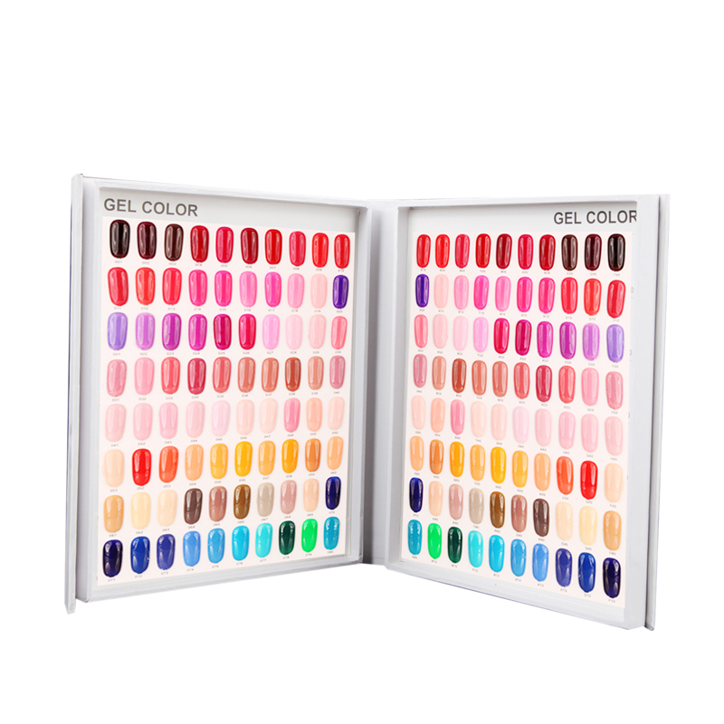1 Box Professional 120/154/216 Colors Nail Gel Polish Display Card ...