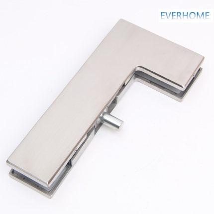 304 porta de vidro de aço inoxidável clipe curvo 7 palavra porta clipe grampo para 10 12mm de vidro de carga 250KGS, DHL livre