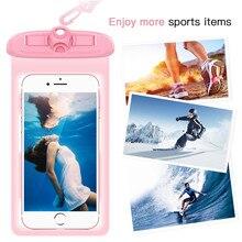 Водонепроницаемый чехол YOKATA для iPhone 7, 6, 6s, 5, 5S, спортивный чехол для бега, подходит для Xiaomi 4A, 4x, до 5,8 дюймов