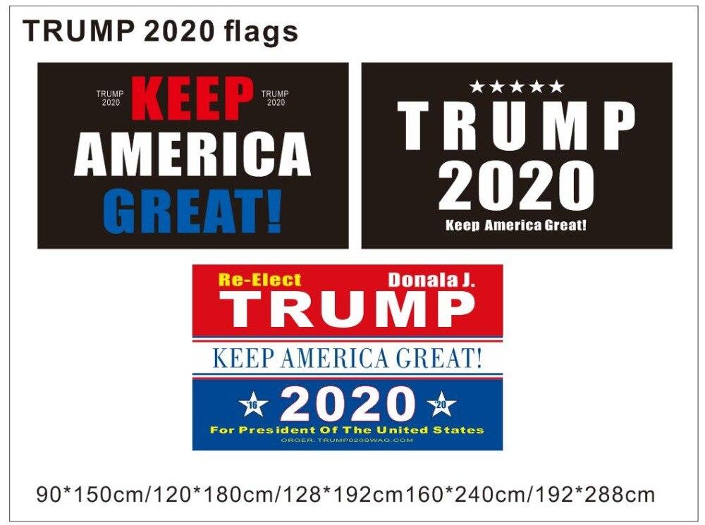 5Pcs Small Hand Flags Keep America Great Trump 2020 Flag Mini Bunting Trump Flag