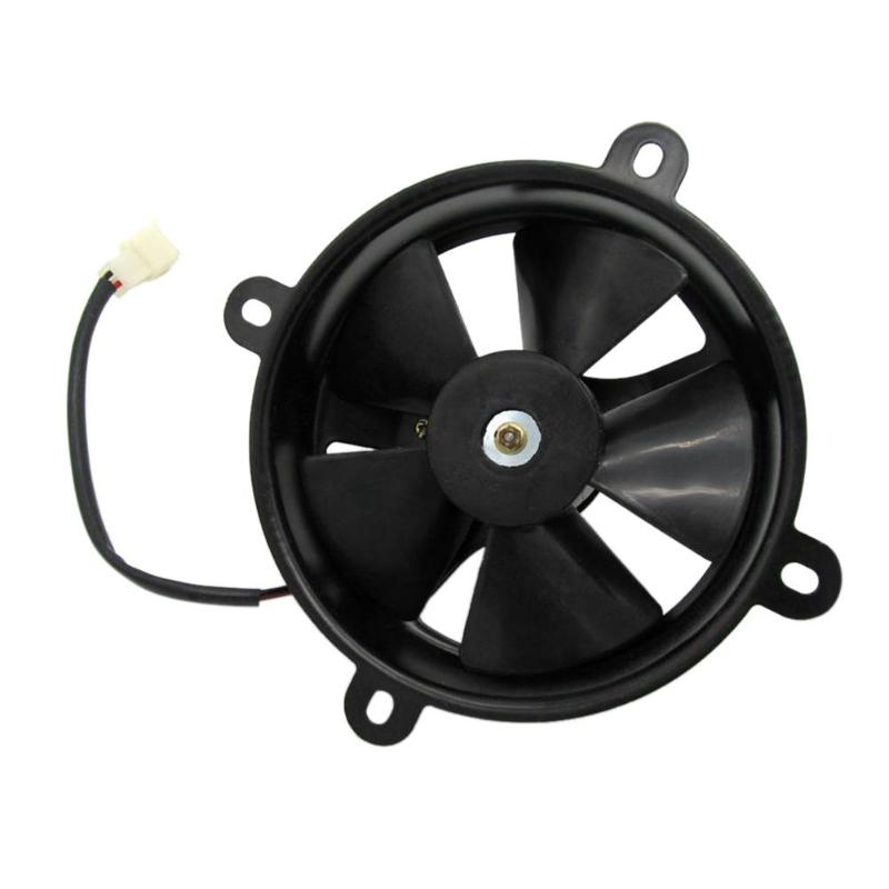 Black 6in Dia Electric Cooling Fan Radiator For Quad Dirt Motorcycle Bike Buggy 150c 200c Plastic