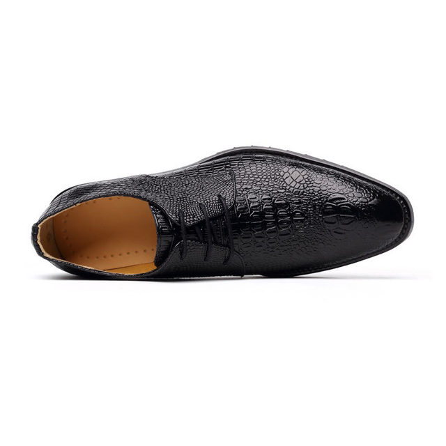 Mens Genuine Leather Shoes Male Black Business Shoes Fashion Oxfords Footwear Men's Casual Shoes A211