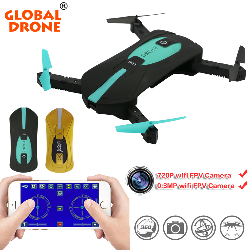 Global Drone Mini Foldable Selfie Elfie Pocket Drone Wifi smartphone Control RC Quadcopter Drones HD Camera vs H37  JY018 global drone rc selfie drones with camera hd wifi fpv quadcopter 8807 foldable drone with camera vs h37 jy018 xs809hw