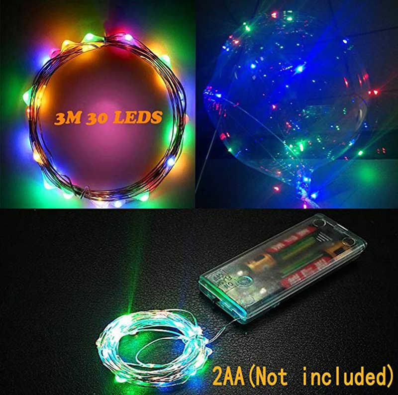 10/20 chiếc Đèn LED Phát Bóng Trong Suốt Bi màu BOBO Rõ Ràng Đèn LED Trang Trí Lễ Cưới, Sinh Nhật Tiếp Liệu 20inch Bóng Bay